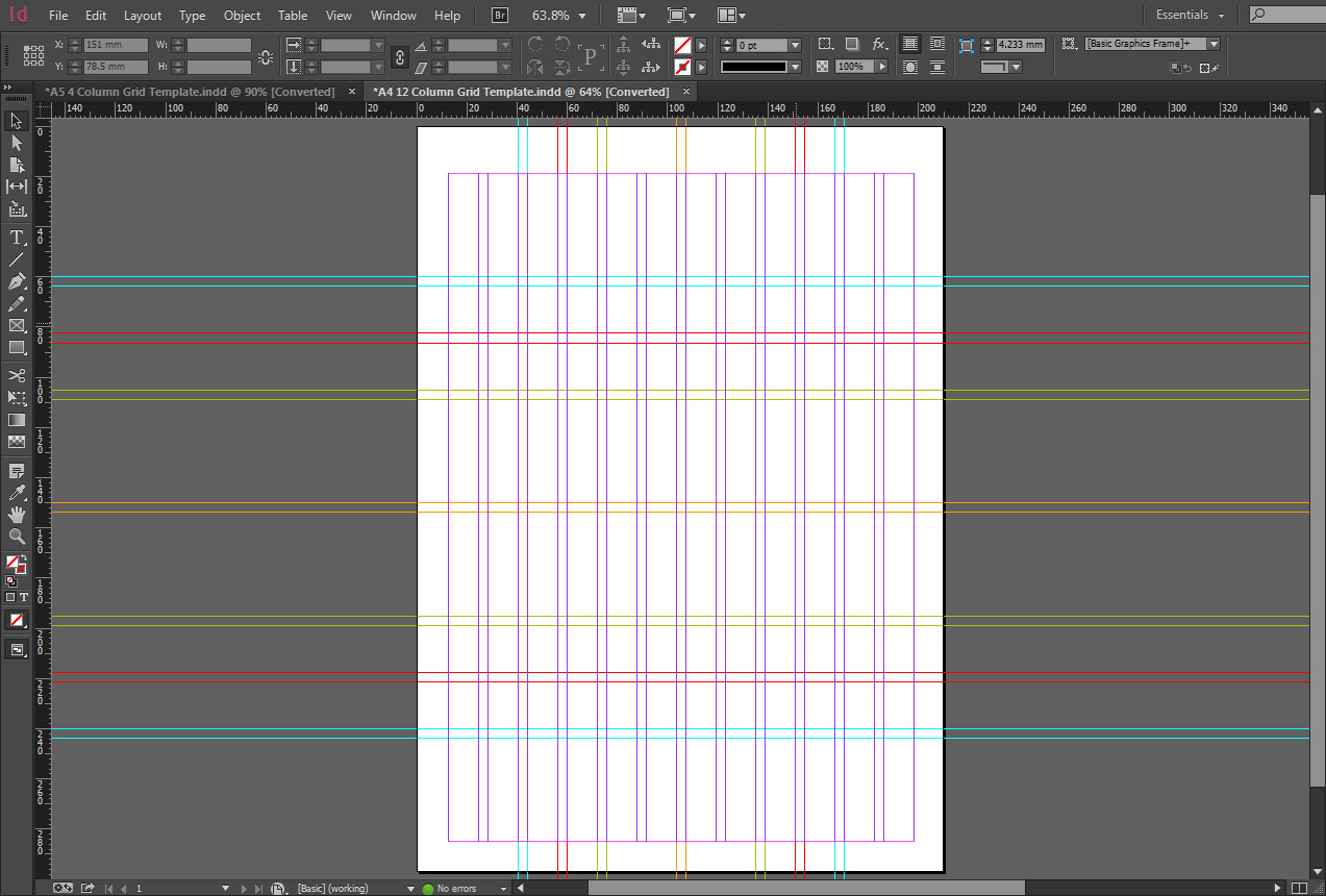 InDesign A4 12 column Grid Template - The Grid System
