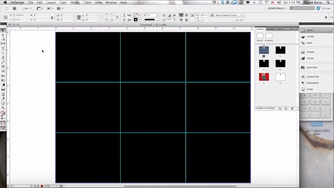 indesign tutorial designing to a grid the grid system. Black Bedroom Furniture Sets. Home Design Ideas