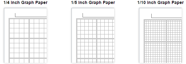 set of printable graph paper templates provided by Vertex42, all ...