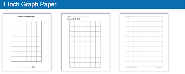 Printable Grid / Graph Paper Template  Printable Blank Graph Paper