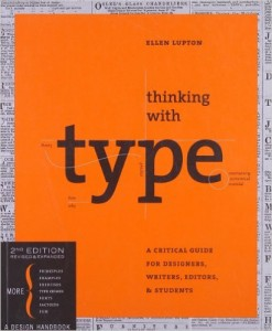 a typography book with a section about grids