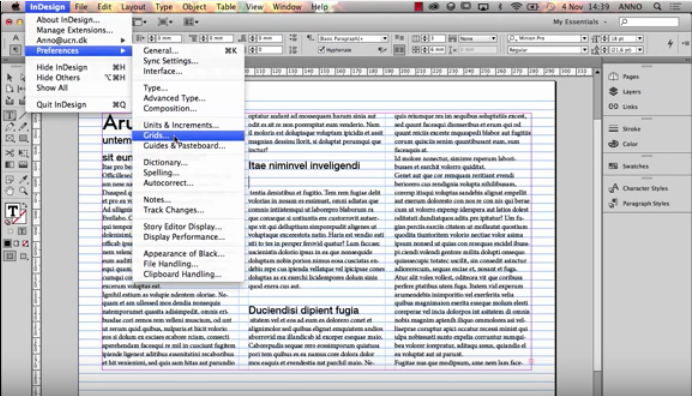 Indesign Columns And Baseline Grid The Grid System
