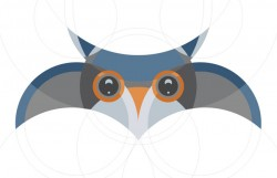 circular grid with adobe illustrator - an owl shape