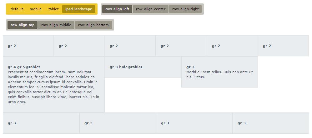 gridle scss grid system tablet alignmets
