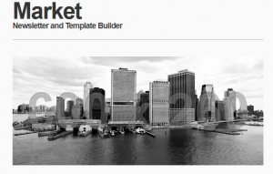 market responsive newsletter with template builder