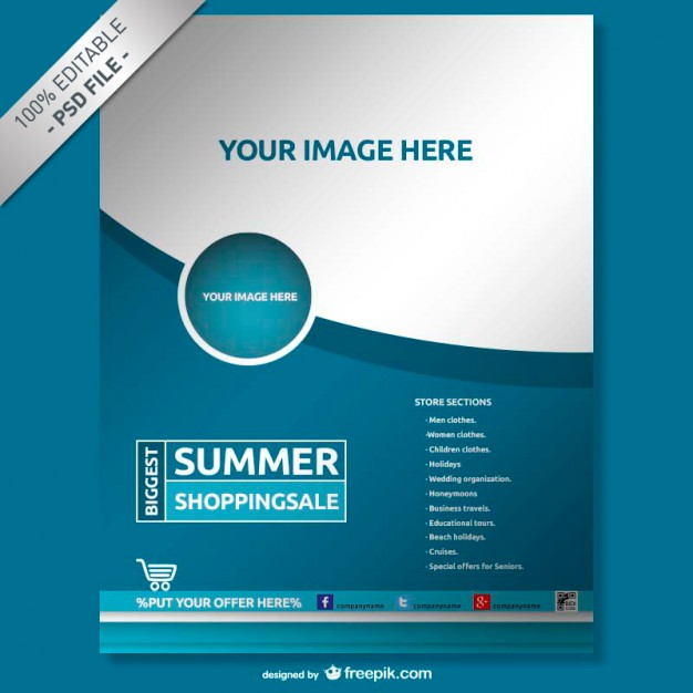 Free flyer templates for photoshop and word the grid system for Template for brochure free