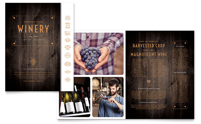 Free Brochure Templates The Grid System - Elegant brochure templates