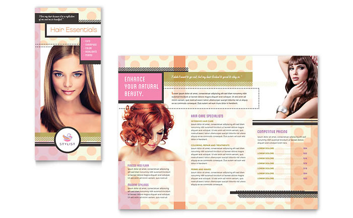 hair saloon brochure