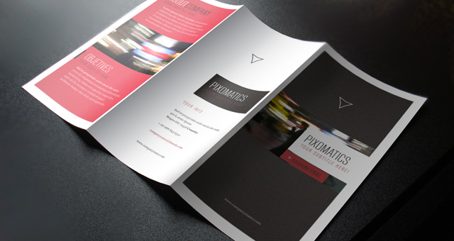 Free Brochure Templates The Grid System – Folded Brochure