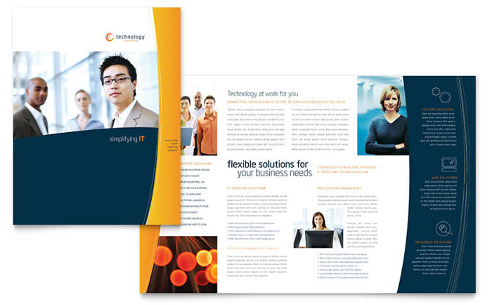 Free Brochure Templates The Grid System - Publisher tri fold brochure templates free