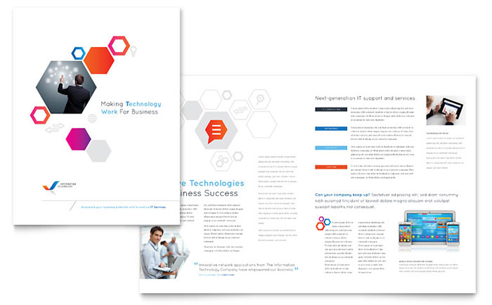 Free Brochure Templates The Grid System – Free Business Flyer Templates for Word