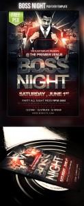 Boss Night Flyer