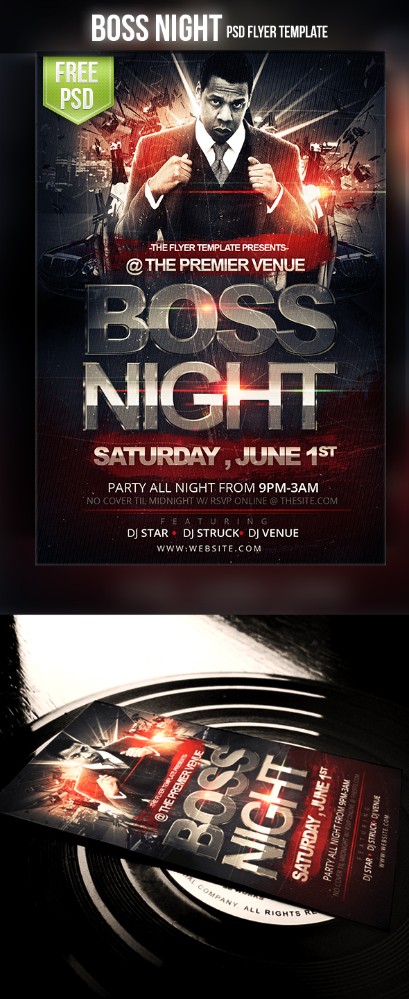 Free flyer templates for photoshop and word the grid system boss night flyer maxwellsz