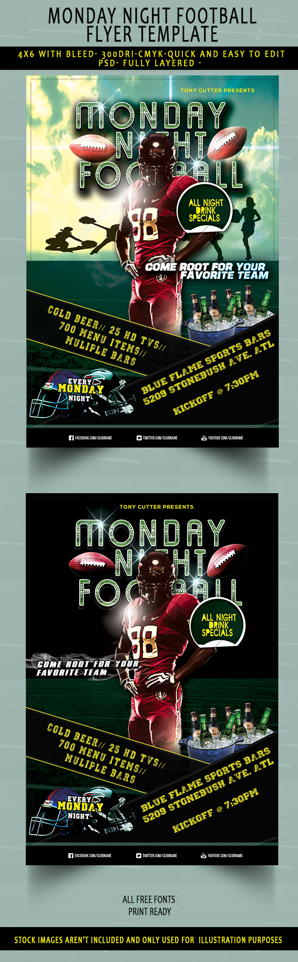 flyer templates for photoshop and word the grid system if one american football flyer template isn t enough here s another one