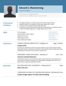 Glimmer resume template