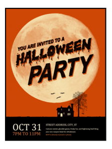 Haloween Party Flyer