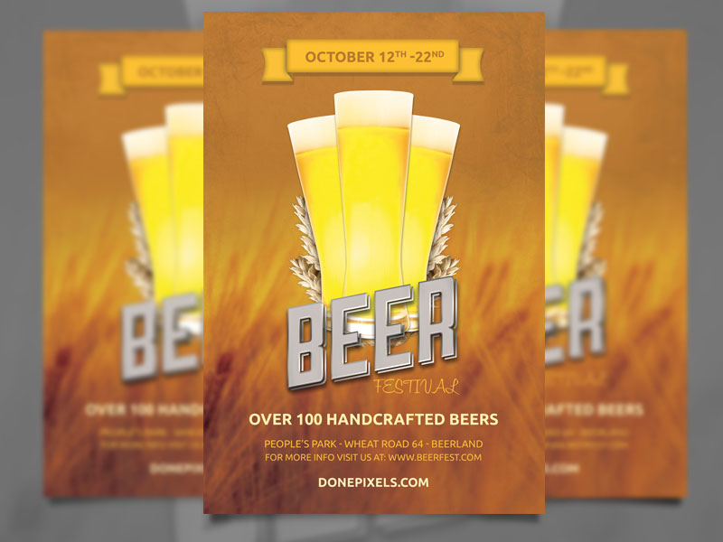 Beer Fest Flyer  Advertising Flyer Templates Free