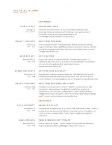 Upfront resume template