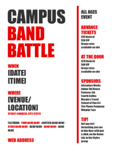 Campus Band Flyer