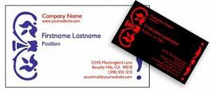Free Online Batik Business Card Template