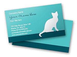 Free online printable Cat Icon Business Card Template