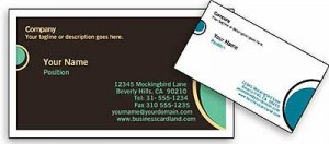 Free Online Eclipse Business Card Template
