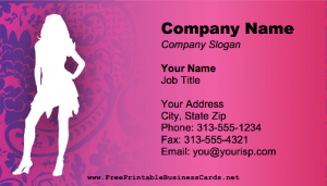 Online printable Fashion Business Card Template