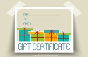 Printable Gift Boxes Gift card