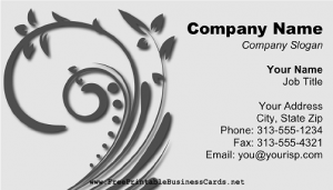 Free Online Grey Swirl Business Card Template