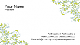 Free online Hedge Business Card Template