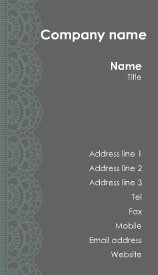 Printable Free Lace design Business Card Template
