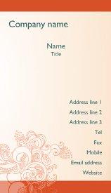 Online Free Orange Swirl business card template