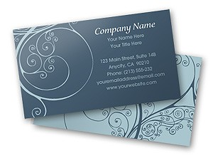 Free online Ornate Design Business Card Template
