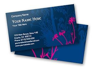 Free online Pink Flowers Business Card Template
