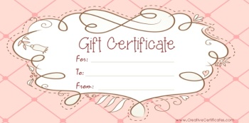 Free Gift Certificate Templates The Grid System