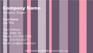 Online Free Pink and Purple Business Card Template