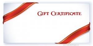 Printable Red ribbon Gift Ceritificate