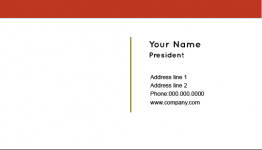Online Free Red Stripe Business Card Template