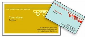 Free Online Bubbles Business Card Template