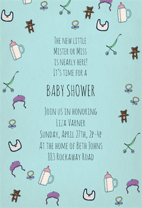 Baby Shower Invitations Templates The Grid System - Print at home baby shower invitation templates