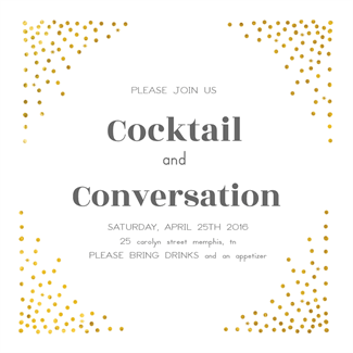 Free Cocktail Party Invitation  Party Invitation Template Word