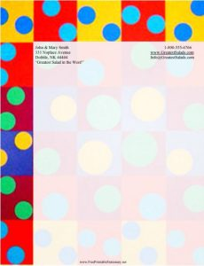Free Colourful Polka party invitation template