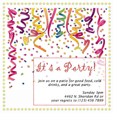 Marvelous Free Colorful Streamers Party Invitation Template  Free Template For Party Invitation