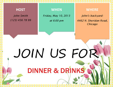 Free party invitation templates the grid system free garden tulips party invitation template stopboris Images