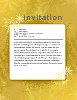 Free Gold sparkles party invitation template