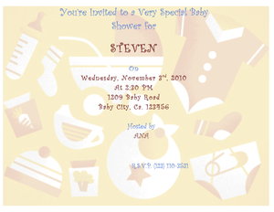 Free Peach baby shower invitations
