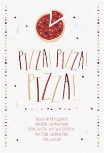 Free Pizza Pizza party invitation template