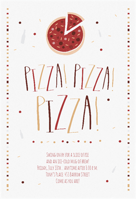 Free Pizza Pizza Party Invitation Template  Free Template For Party Invitation