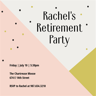 Free Retirement Party Invitation Template  Party Rsvp Template