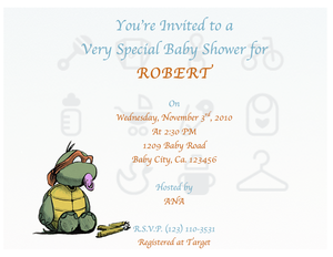 Free Turtle Baby Shower Invitations